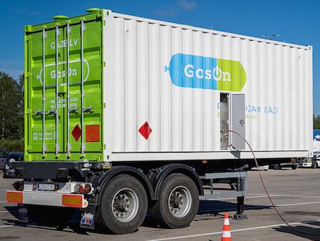 CNG piegāde ar konteineru