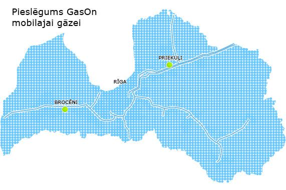 Pieslēgums Gason mobilajam gāzesvadam